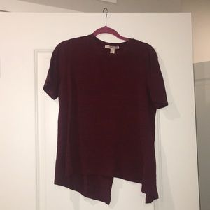 Burgundy/Maroon flowy shirt with open back